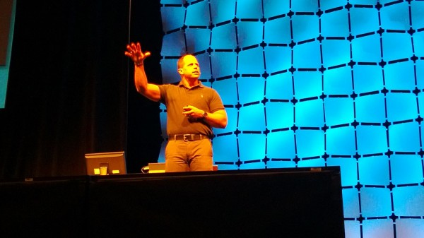 Brad Anderson on the roll during the Keynote