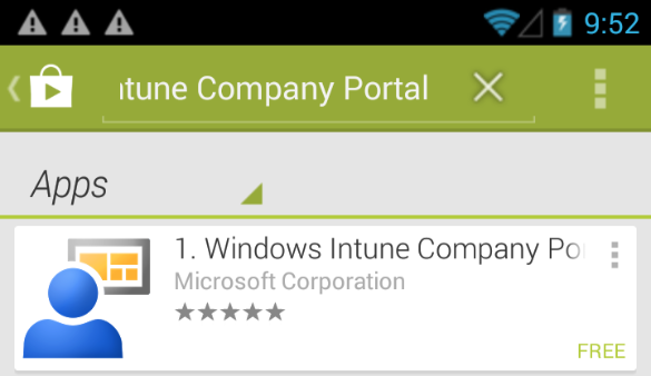 Managing Android via ConfigMrg and Windows Intune