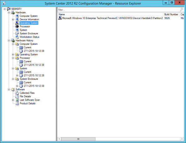 Inventory flowed down to Configuration Manager 2012 R2