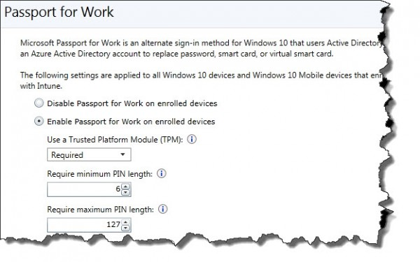 Passport for Work enabled by default