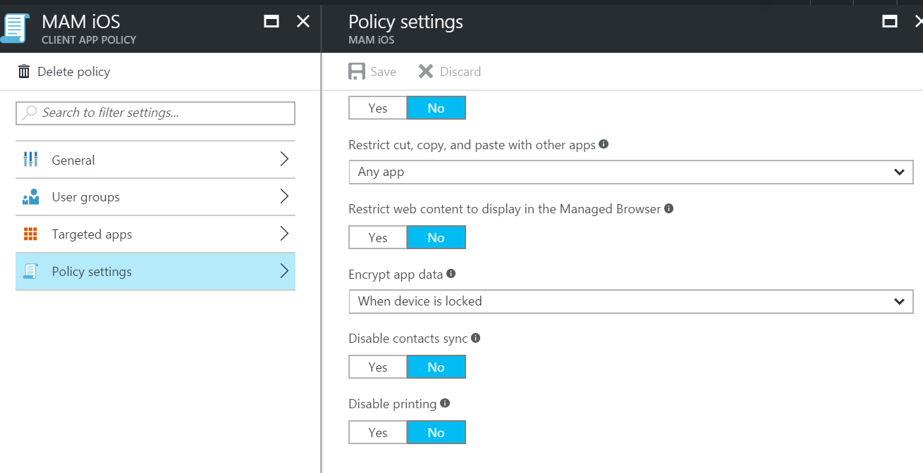 Apps, apps, apps and MAM in Intune on Azure  | Enterprise